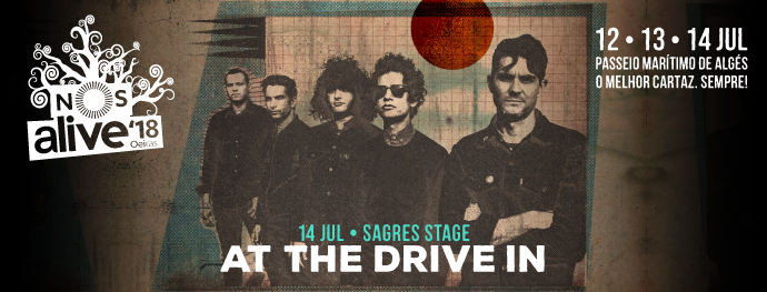 At The Drive-In no Palco Sagres do NOS Alive'18